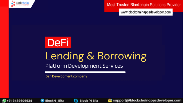 DeFi Lending and Borrowing Platform Development Services