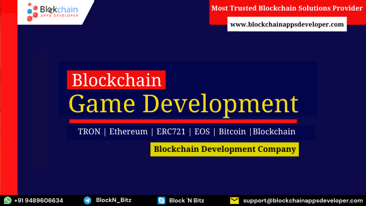 Blockchain Game Development Company - Build Your Decentralized Games on Popular Blockchain Networks