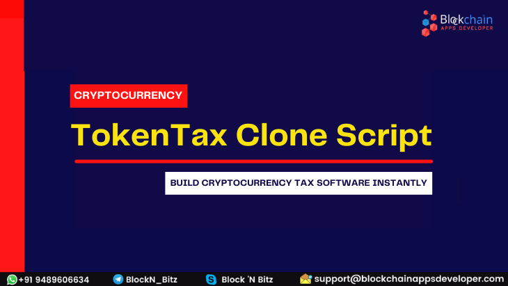 Tokentax Clone Script to Build Cryptocurrency Tax Software Instantly!