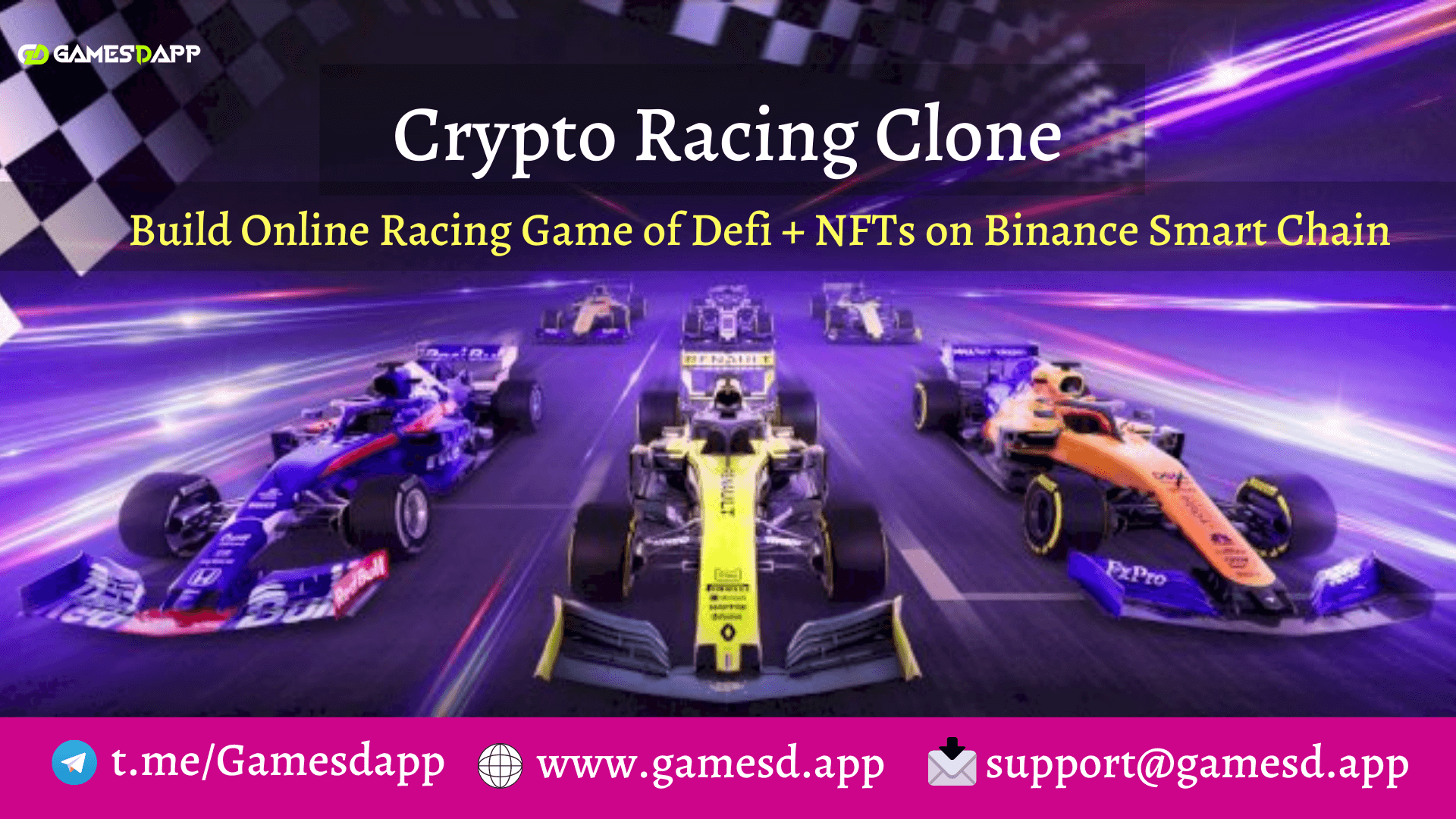 Crypto Racing Clone - To Launch Multiplayer Racing Game of DeFi + NFTs based on BSC