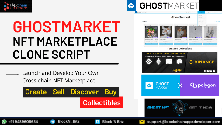 GhostMarket Clone Script To Launch Cross-Chain NFT Marketplace Like Ghostmarket.io
