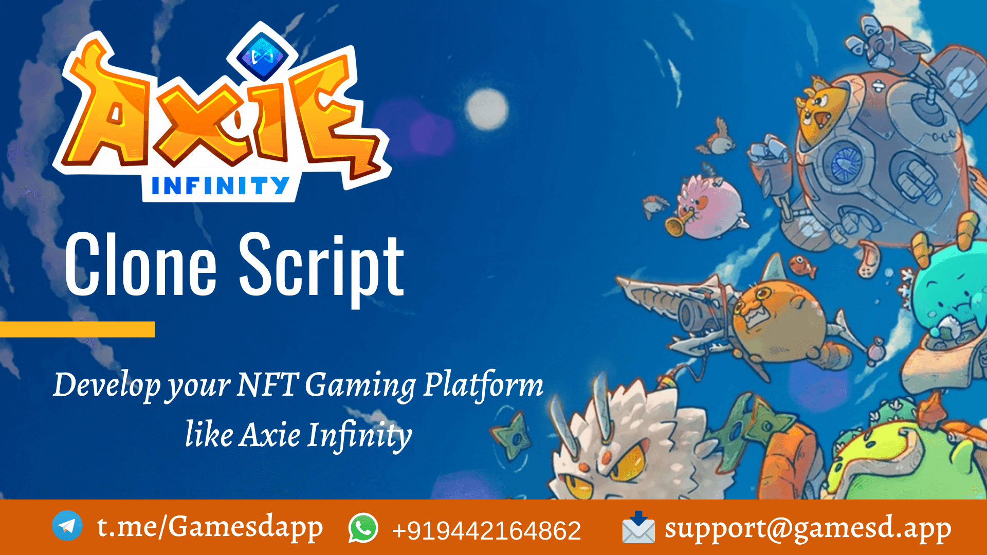 Axie Infinity Clone Script - To Build NFT Game like Axie Infinity