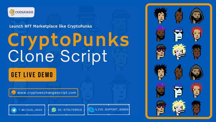 CryptoPunks Clone Script - To Create a NFT Digital Collectibles Platform like CryptoPunks