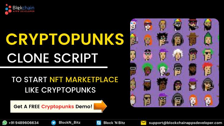 CryptoPunks Clone Script | Build NFT Digital Collectibles like CryptoPunks