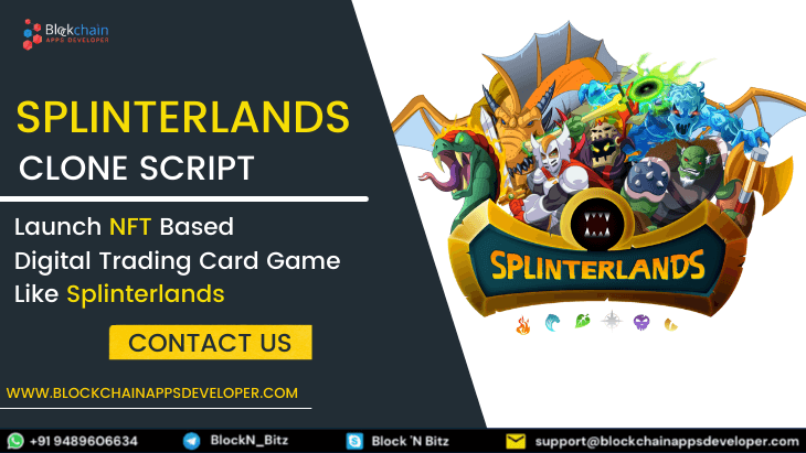 Splinterlands Clone Script To Launch NFT based Digital Trading Card Game Like Splinterlands