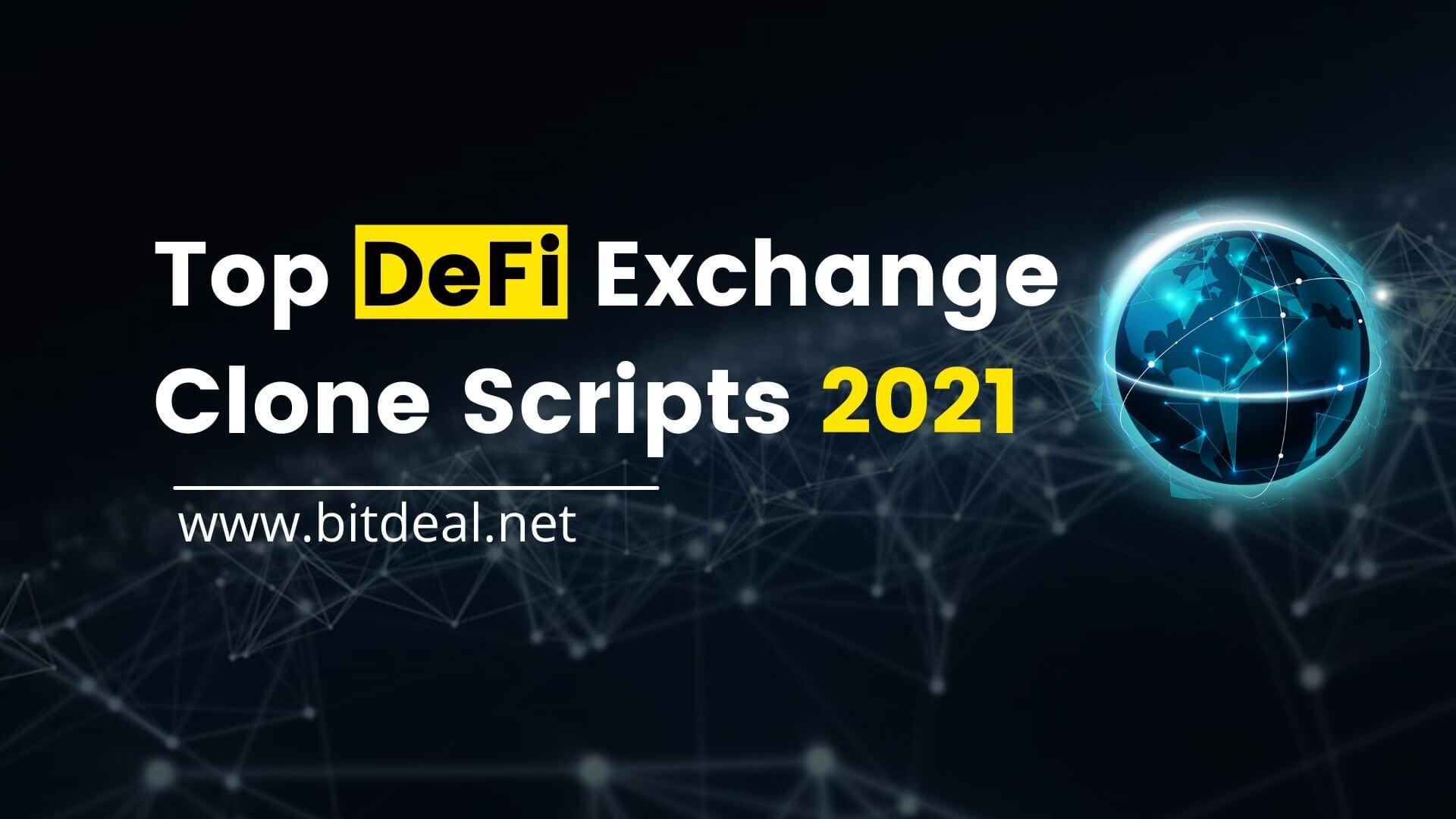 Top 10 DeFi Exchange Clone Scripts to Earn Passive Income!!!