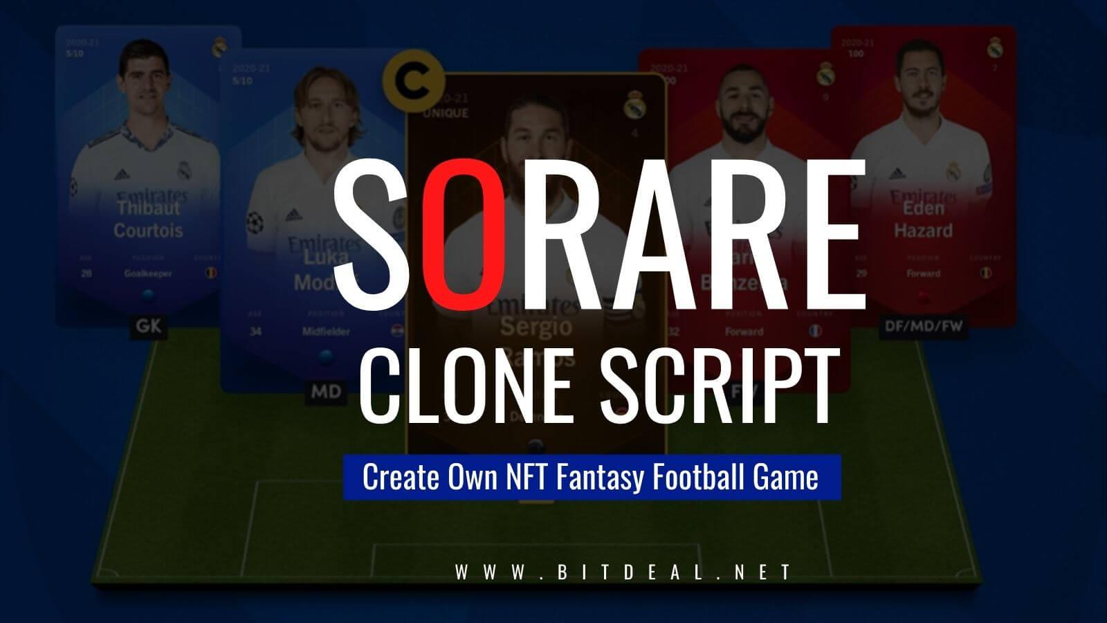 Build NFT Fantasy Football Gaming Marketplace like Sorare