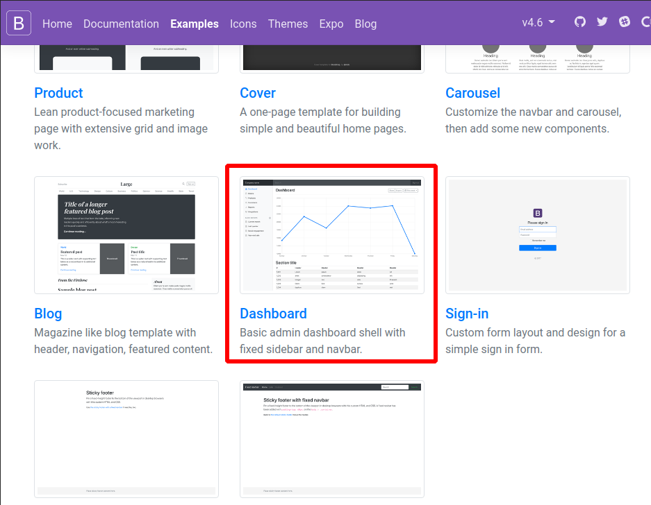 layout bootstrap