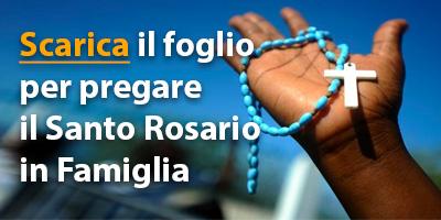 Foglio recita Santo Rosario