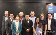 Llewellyn Tang (centre) led a visit of UNNC members to the CIOB earlier this year
