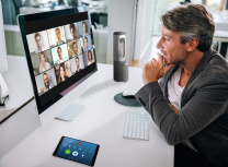 om lets users quickly set up video conference calls with everyone on a project (Zoom)