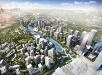 Artist's render of the planned 197ha Bandar Malaysia business district in Kuala Lumpur, to be developed around the terminus of the high-speed railway (TRX City)
