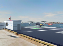 Transcend's rendering of its vertiports
