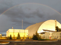 The 108-m-high Chernobyl New Safe Confinement structure (Vinci Construction Grands Projets)