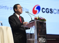 Malaysia's finance minister Lim Guan Eng addresses a business audience at the Budget 2020 Forum in Kuala Lumpur, 14 October 2019 (Malaysian Ministry of Finance/Twitter)