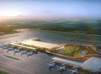 "SOM's visualisation of the new ""Garden Terminal"" at Kempegowda International Airport"