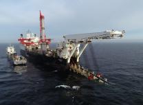 Allseas' vessel Solitaire laying Nord Stream 2 pipe in Swedish waters (Allseas)
