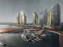 Koichi Takada's design for the Ancol Bay site