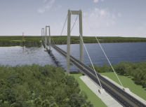 Artist's render of the Chacoa bridge planned for Chile (Systra)
