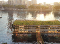 Powerhouse's rendering of its floating office