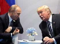 Vladimir Putin and Donald Trump meet at the July 2017 G20 summit in Hamburg, Germany (Kremlin.ru)