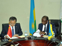 The signing of the loan contract took place on 7 February (Rwanda Energy Group)