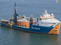 Van Oord's cable-laying vessel Nexus which will bury the cables (Van Oord)
