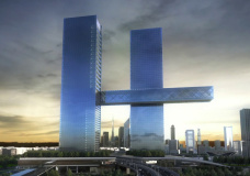 "Dubai twin tower scheme with ""world's largest cantilever"" praised for 4D modeling"