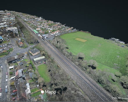 The drones delivered high resolution fully-georeferenced Google Maps