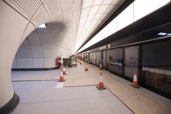 The new Farringdon Station on the Elizabeth Line (Crossrail)
