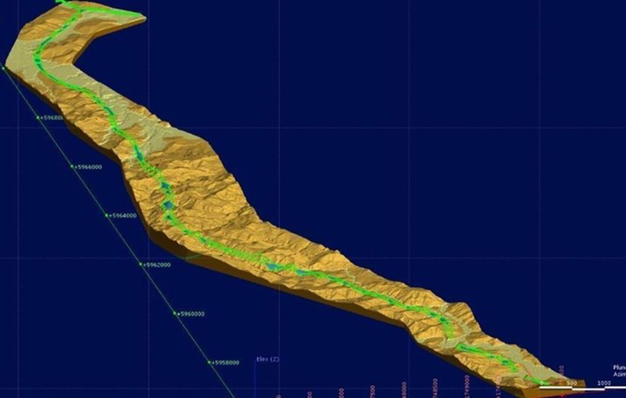 Top image: The 3D subsurface model encompasses the full length of the 18.5km alignment (Seequent)