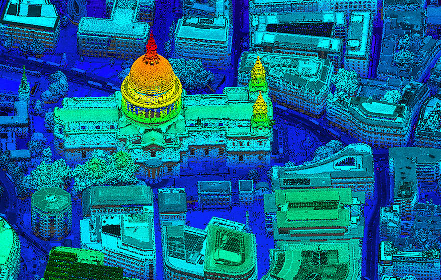 St Paul's Cathedral in London captured by CityMapper