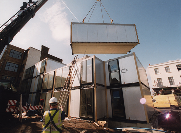Image: The Murray Grove modular development in north London