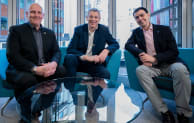 (Left to right) Jon Rains (Mott MacDonald Ventures), Darren Russell (Mott MacDonald), Jozef Dobos (3D Repo)