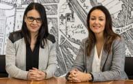 Rebecca di Cicco (left) and Sascia Elliott