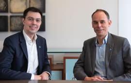 Dr Jozef Dobos (left) with Guy Ranawake, senior investment director at Ingenious