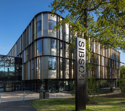 A striking 'W' shaped building nestled in ancient woodland, the University of Kent's Sibson building was designed to encourage collaboration and communication (Quintin Lake)