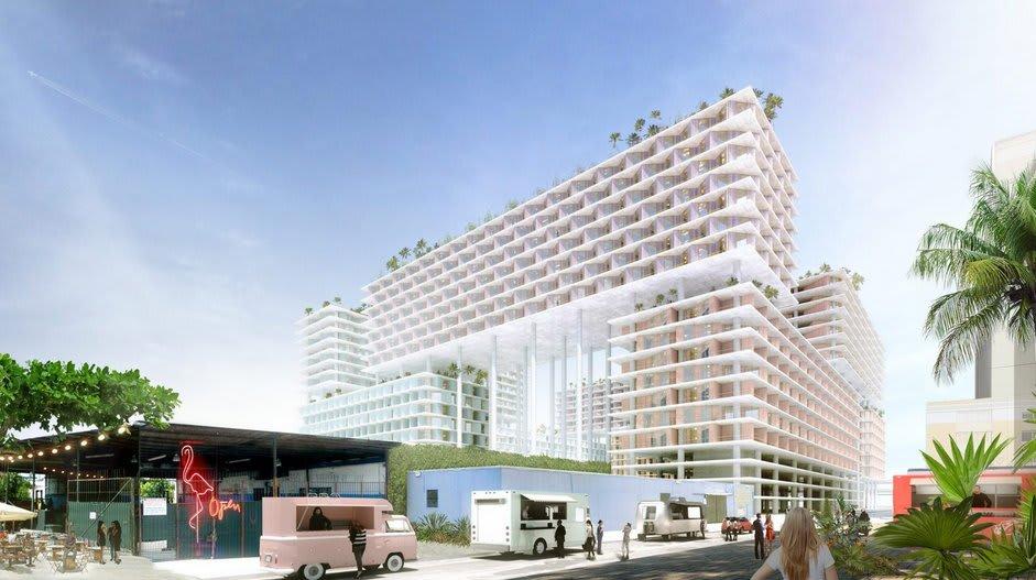 BIG designs mixed-use Miami development on stilts | BIM+