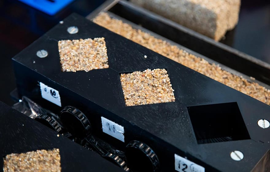 A mould for shaping bricks made out of living materials (CU Boulder College of Engineering and Applied Science)