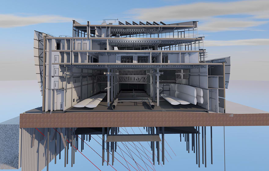 ArchiCAD was used at Land Rover BAR's HQ in Portsmouth