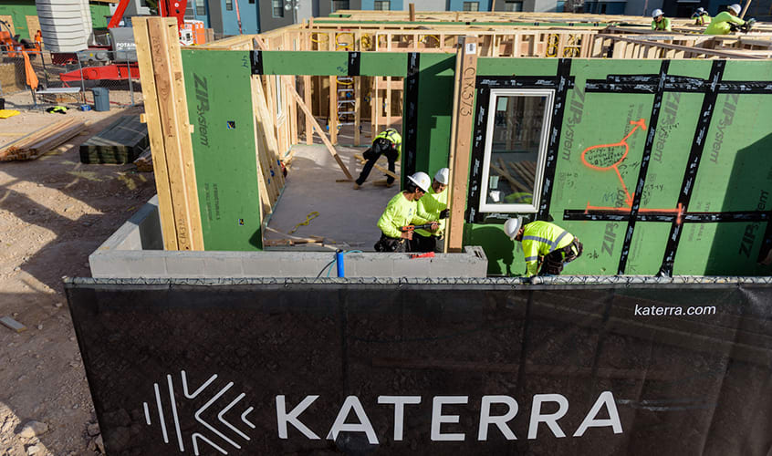 Katerra designed K90, a 24-unit apartment building, to be completed in 90 days (Trevor DeWitt/Katerra)