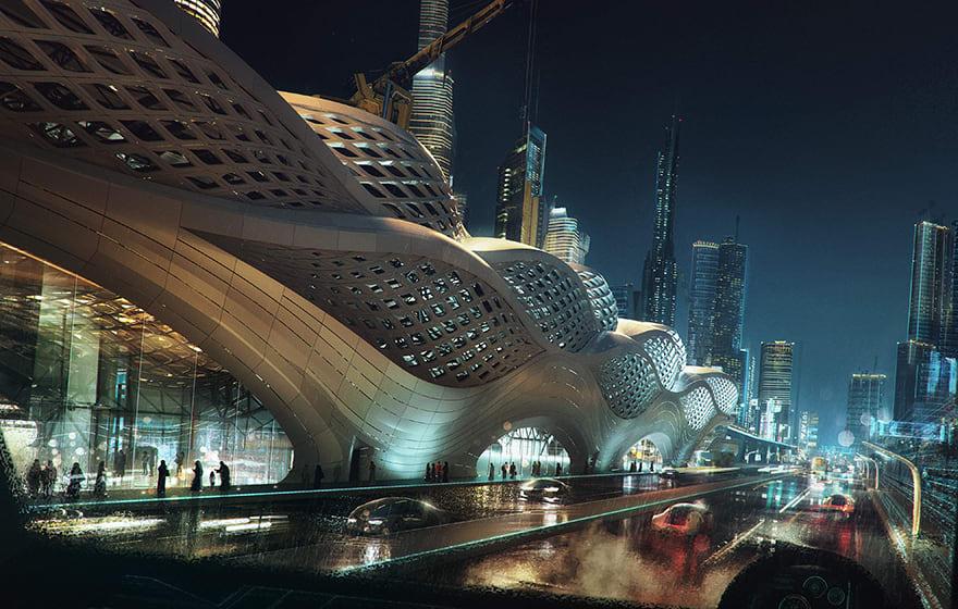 KAFD Metro Station, Riyadh, Saudi Arabia