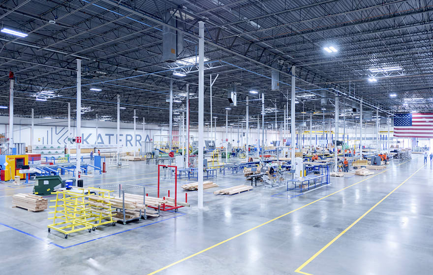 Katerra's component factory in Phoenix, Arizona. The company is building, or plans, three more across the US (Katerra)