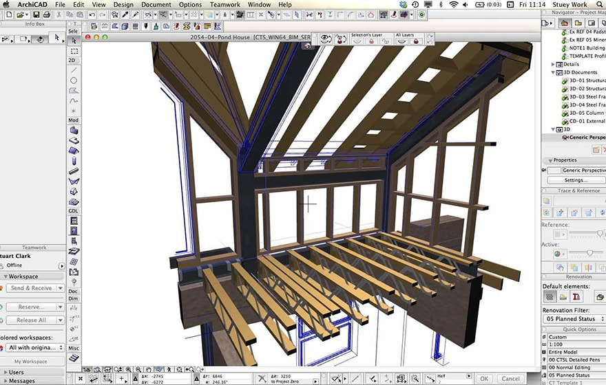 Malvern property - Illustrating the level of detail in Constructive Thinking's model in ArchiCAD