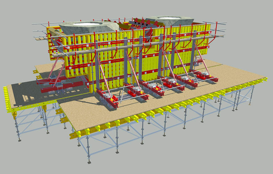 PERI formwork systems now available on Trimble software | BIM+