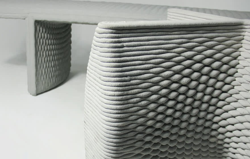 Example of a printed concrete element (Concreative)