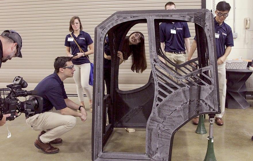 3D printed excavator. Credit Rachel Brooks, Oak Ridge National Laboratory, Dept. of Energy