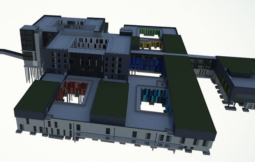 Basingstoke Hospital where lead contractor Kier used BIM