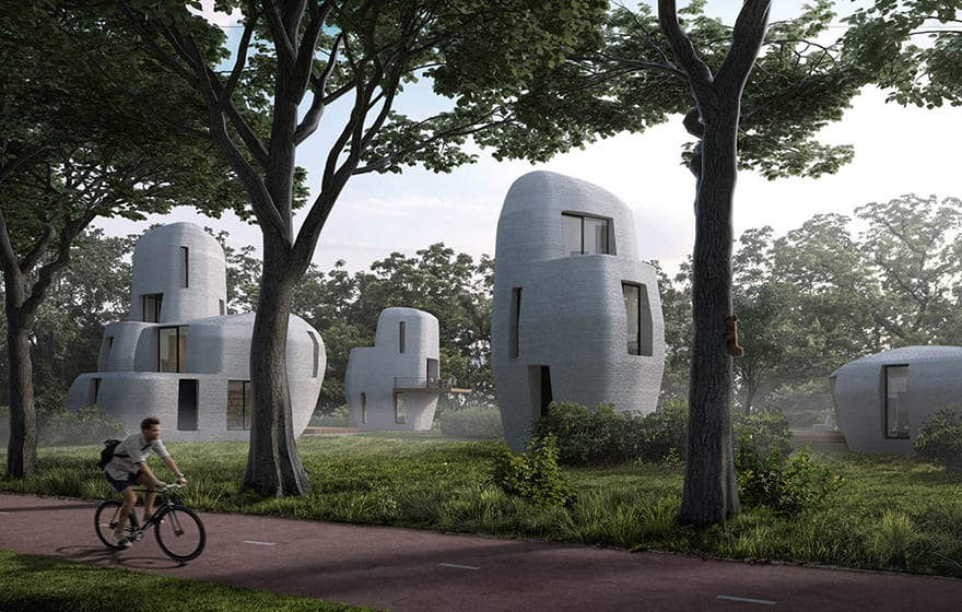 Eindhoven to print five boulder-shaped homes in park | BIM+