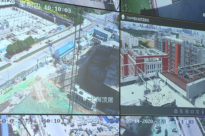Image: A China Eighth Engineering Division screen grab of its surveillance systems